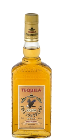 Tequila Tres Sombreros Gold 38° cl100