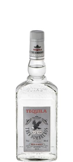 Tequila Tres Sombreros Silver 38° cl70
