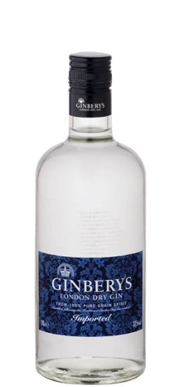 London Dry Gin Ginbery's 37.5° cl100