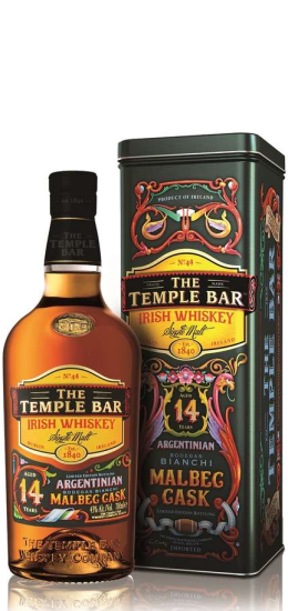 The Temple Bar Irish Whiskey Argentinian Malbec Cask 43° cl70 Gift Box - foto 1