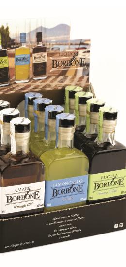 Espositore da Banco Borbone Mix 12 bt. 30° cl10