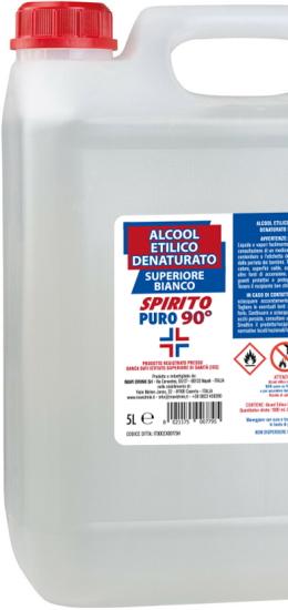 Spirito Puro Alcool Etilico Denaturato Superiore Bianco 90° cl500